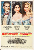 "Movie Posters:Romance, Raintree County (MGM, 1957). Folded, Very Fine-. One Sheet (27"" X 41""). Wallace Bassford Artwork. Romance.. ..."