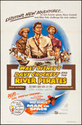 """Movie Posters:Adventure, Davy Crockett and the River Pirates (Buena Vista, 1956). Folded, Very Fine-. One Sheet (27"""" X 41""""). Adventure.. ..."""