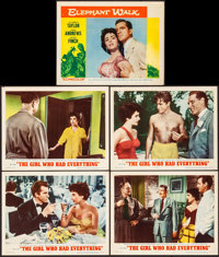 """The Girl Who Had Everything & Other Lot (MGM, 1953). Fine/Very Fine. Lobby Cards (5) (11"""" X 14""""). Romance..."""