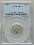 1883 3CN AU55 PCGS. PCGS Population: (14/62). NGC Census: (7/27). CDN: $940 Whsle. Bid for problem-free NGC/PCGS AU55. M...