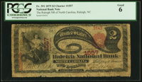 Raleigh, NC - $2 1875 Fr. 391 The Raleigh NB of North Carolina Ch. # 1557 PCGS Good 6