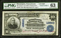 National Bank Notes:Pennsylvania, Philadelphia, PA - $10 1902 Plain Back Fr. 635 The Queen Lane NB in Germantown Ch. # 12860 PMG Choice Uncirculated 63....