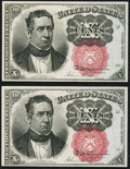 Fractional Currency:Fifth Issue, Fr. 1266 10¢ Fifth Issue Two Examples Choice New.. ... (Total: 2notes)