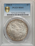 Morgan Dollars: , 1900-S $1 MS65 PCGS. PCGS Population: (633/130). NGC Census: (180/26). CDN: $1,050 Whsle. Bid for problem-free NGC/PCGS MS6...