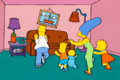 Animation Art:Production Cel, The Simpsons Entire Family Couch Gag Production Cel with Background Cel Setup (Fox, 1994)....