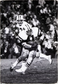 Football Collectibles:Photos, 1960's Joe Namath and Matt Snell Original Oversized Photograph by Ken Regan, PSA/DNA Type 1....