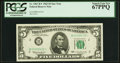 Small Size:Federal Reserve Notes, Fr. 1967-B* $5 1963 Federal Reserve Star Note. PCGS Superb Gem New 67PPQ.. ...