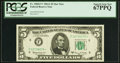 Small Size:Federal Reserve Notes, Fr. 1968-F* $5 1963A Federal Reserve Star Note. PCGS Superb Gem New 67PPQ.. ...