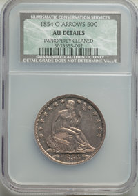 1854-O 50C Arrows -- Improperly Cleaned -- NCS. AU Details. NGC Census: (46/478). PCGS Population: (92/503). AU50. Minta...