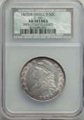 Bust Half Dollars, 1819/8 50C Small 9, O-101, R.1, -- Improperly Cleaned -- NCS. AU Details. NGC Census: (6/15). PCGS Population: (2/14). AU50...