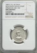 Expositions and Fairs, 1893 World's Columbian Exposition, New South Wales Court -- Cleaned -- NGC Details. Unc. Eglit-7A. Silver, 24 mm. Overstruck...