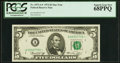 Small Size:Federal Reserve Notes, Fr. 1973-A* $5 1974 Federal Reserve Star Note. PCGS Superb Gem New 68PPQ.. ...