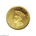 Three Dollar Gold Pieces: , 1873 $3 Closed 3 MS64 PCGS....