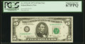Small Size:Federal Reserve Notes, Fr. 1975-G* $5 1977A Federal Reserve Star Note. PCGS Superb Gem New 67PPQ.. ...