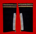 American Indian Art:Beadwork and Quillwork, A Pair of Mesquakie Child's Beaded Cloth Leggings. c. 1900...