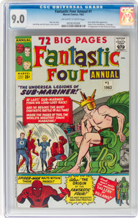 Fantastic Four Annual #1 (Marvel, 1963) CGC VF/NM 9.0 Off-white to white pages