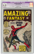 Silver Age (1956-1969):Superhero, Amazing Fantasy #15 (Marvel, 1962) CGC Apparent FN 6.0 Extensive(P) Cream to off-white pages....