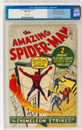 Silver Age (1956-1969):Superhero, The Amazing Spider-Man #1 Golden Record Reprint (Marvel, 1966) CGC VF+ 8.5 Off-white pages....