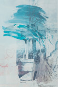 Fine Art - Work on Paper:Print, Robert Rauschenberg (1925-2008). Earth Day, 1990. Offsetlithograph in colors on paper. 60 x 39-3/4 inches (152.4 x 101 ...