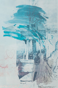 Robert Rauschenberg (1925-2008) Earth Day, 1990 Offset lithograph in colors on paper 60 x 39-3/4