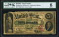 Large Size:Legal Tender Notes, Fr. 63a $5 1863 Legal Tender PMG Very Good 8.. ...