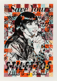 FAILE (20th Century) Save Stilettos, 2010 Screenprint in colors on wove paper 39 x 27-1/2 inches