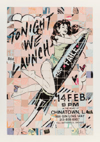 FAILE (20th Century) Launch Tonight, 2010 Screenprint in colors on wove paper 39 x 27-1/2 inches