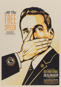 Shepard Fairey (b. 1970) Free Speech, 2018 Lithograph in colors on uncoated archival paper 24 x 1