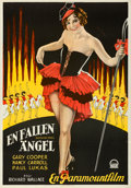 "Movie Posters:Romance, The Shopworn Angel (Paramount, 1928). Folded, Very Fine+. Swedish One Sheet (27.5"" X 39.5"").. ..."
