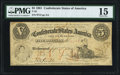 Confederate Notes:1861 Issues, T32 $5 1861 PF-2 Cr. 249 PMG Choice Fine 15.. ...