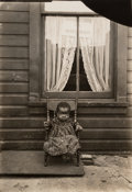 Photographs:Gelatin Silver, Lewis Wickes Hine (American, 1874-1940). African-American Orphan, Washington, D.C., 1906. Gelatin silver. 7 x 4-7/8 inch...