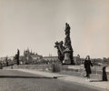 Photographs:Gelatin Silver, Robert Capa (American, 1913-1954). Charles Bridge over VltavaRiver, Prague, 1940s. Gelatin silver, printed later. 7-7/8...