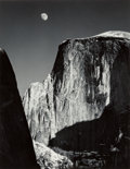 Photographs:Gelatin Silver, Ansel Adams (American, 1902-1984). Half Dome and Moon, Yosemite National Park, California, 1960. Gelatin silver, 1970s. ...