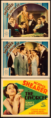 "The Divorcee (MGM, 1930). Very Fine. Title Lobby Card & Lobby Cards (2) (11"" X 14""). ... (Total: 3 Ite..."