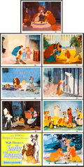 """Movie Posters:Animation, Lady and the Tramp (Buena Vista, 1955). Near Mint-. Mini Lobby Card Set of 9 (8"""" X 10"""").. ... (Total: 9 Items)"""