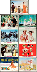 """Movie Posters:Fantasy, Mary Poppins (Buena Vista, 1964). Very Fine-. Lobby Card Set of 9 (11"""" X 14"""") with Original Studio Envelope. Paul Wenzel Tit... (Total: 10 Items)"""