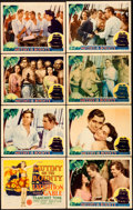 "Movie Posters:Academy Award Winners, Mutiny on the Bounty (MGM, 1935). Fine/Very Fine. Lobby Card Set of 8 (11"" X 14"").. ... (Total: 8 Items)"