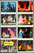 """Movie Posters:Animation, Sleeping Beauty (Buena Vista, 1959). Very Fine+. Lobby Card Set of 9 (11"""" X 14"""") with Original Studio Envelope.. ... (Total: 10 Items)"""