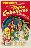 Movie Posters:Animation, The Three Caballeros (RKO, 1945). Folded, Very Fine.