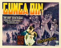 "Gunga Din (RKO, 1939). Fine/Very Fine on Paper. Half Sheet (22"" X 28"") Style B"