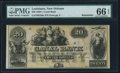 Obsoletes By State:Louisiana, New Orleans, LA- New Orleans Canal & Banking Compy. $20 18__ Remainder PMG Gem Uncirculated 66 EPQ.. ...