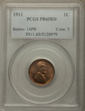 Proof Lincoln Cents, 1911 1C PR65 Red PCGS....