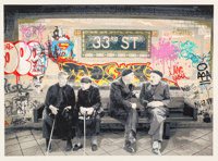 Mr. Brainwash (French, b. 1966) 33rd St., 2009 Silkscreen in colors on BFK Rives paper 22 x 30 in