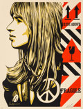 Prints & Multiples:Print, Shepard Fairey (American, b. 1970). Fragile Peace, 2017. Screenprint in colors on speckled cream paper. 24 x 18 inches (...