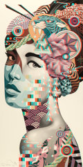 Prints & Multiples:Print, Tristan Eaton (American, b. 1978). 3D Geisha XL, 2017. Giclée print in colors on Moab Entrada paper. 60 x 30 inches (152...