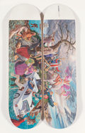 Collectible:Contemporary, Kent Monkman X Colonialism Skateboards. Miss Europe, set of two, from Four Continents, 2018. Offset lithographs in c... (Total: 2 Items)