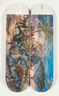 Collectible:Contemporary, Kent Monkman X Colonialism Skateboards. Miss Africa, set of two, from Four Continents, 2018. Offset lithographs in c... (Total: 2 Items)
