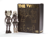 KAWS (American, b. 1974) The Twins (Brown) (two works), 2006 Painted cast vinyl 8 x 3 x 1-3/4 inches (20.3 x 7.6 x 4