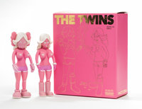 KAWS (American, b. 1974) The Twins (Pink) (two works), 2006 Painted cast vinyl 8 x 3 x 1-3/4 inches (20.3 x 7.6 x 4.4