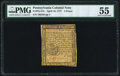 Colonial Notes:Pennsylvania, Pennsylvania April 10, 1777 4d PMG About Uncirculated 55.. ...